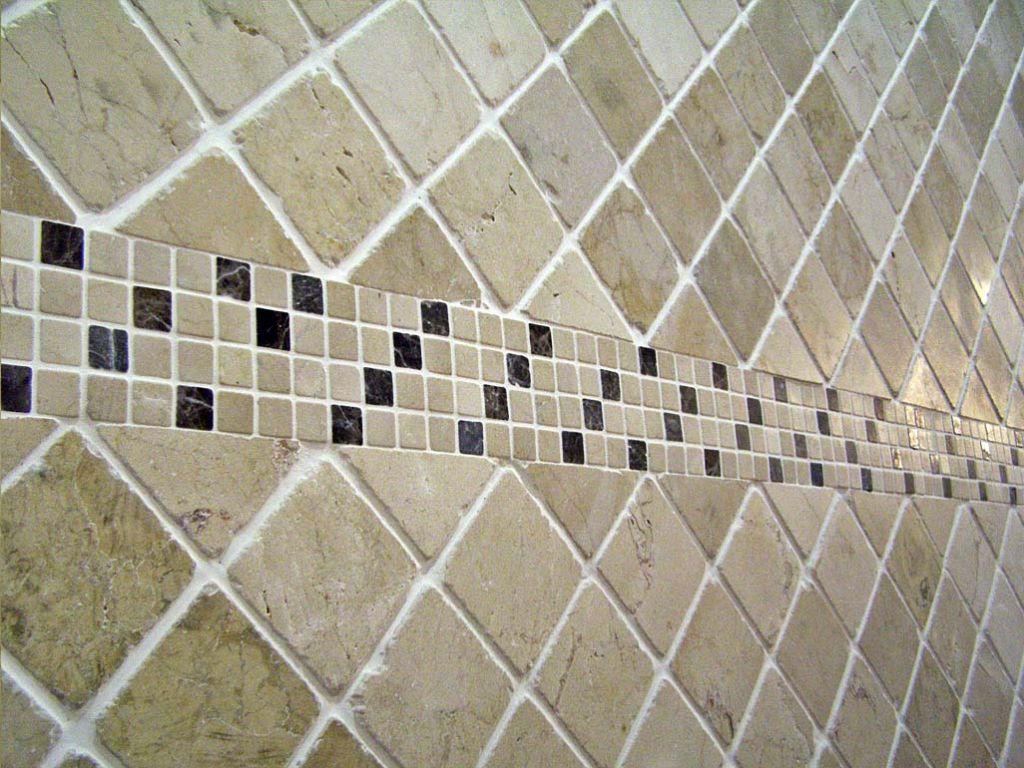 Ba o de marmol platos de duchas de obra con marmol - Gresites para banos ...