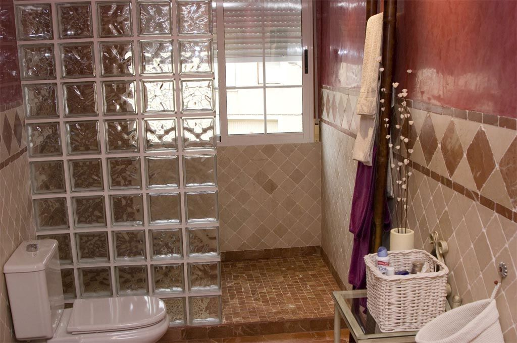 Baño Rustico Moderno:baños marmol