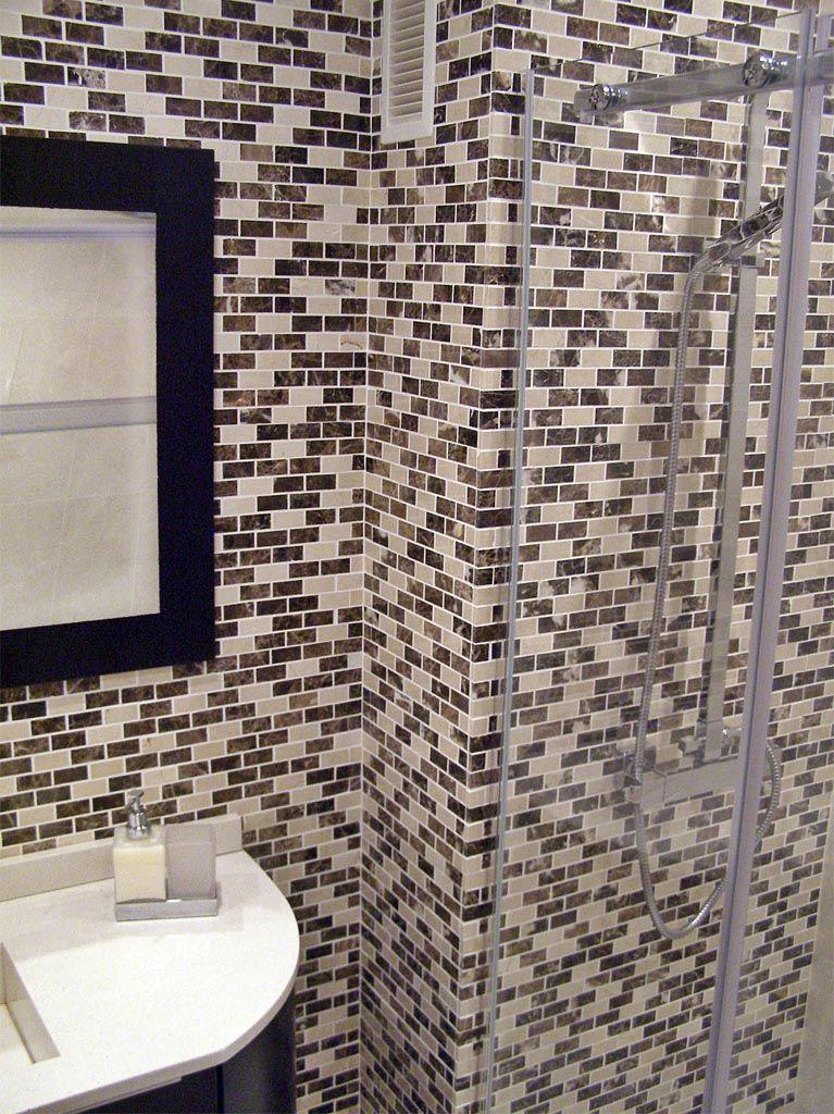 Mosaico de marmol envejecido decoracion para ba os Mosaico para bano precios
