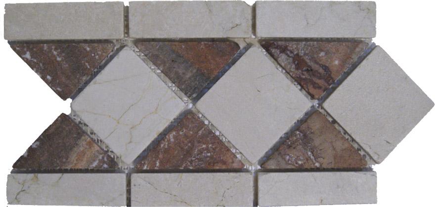 Cenefas de marmol mosaico marmol el uso de marmol en la - Peldanos de marmol ...