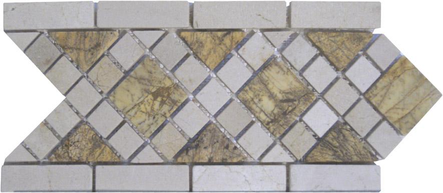 Decoracion para espejos mosaicos en marmol para ba os y - Cenefas para espejos ...