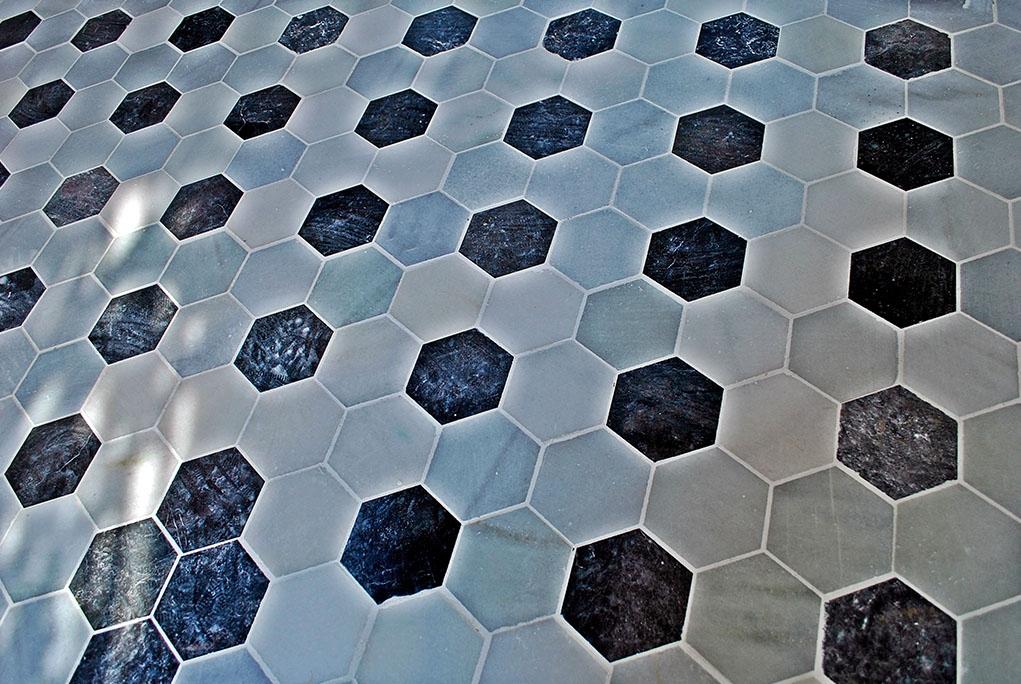 Decoraci n con m rmol suelos brillo marmol pulido para for Marmol negro y blanco