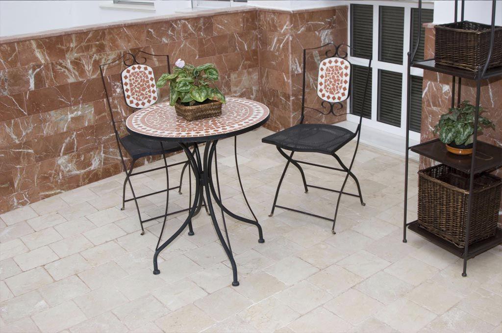 Trabajos realizados en piedra natural y terracota p gina 1 for Suelo marmol rojo