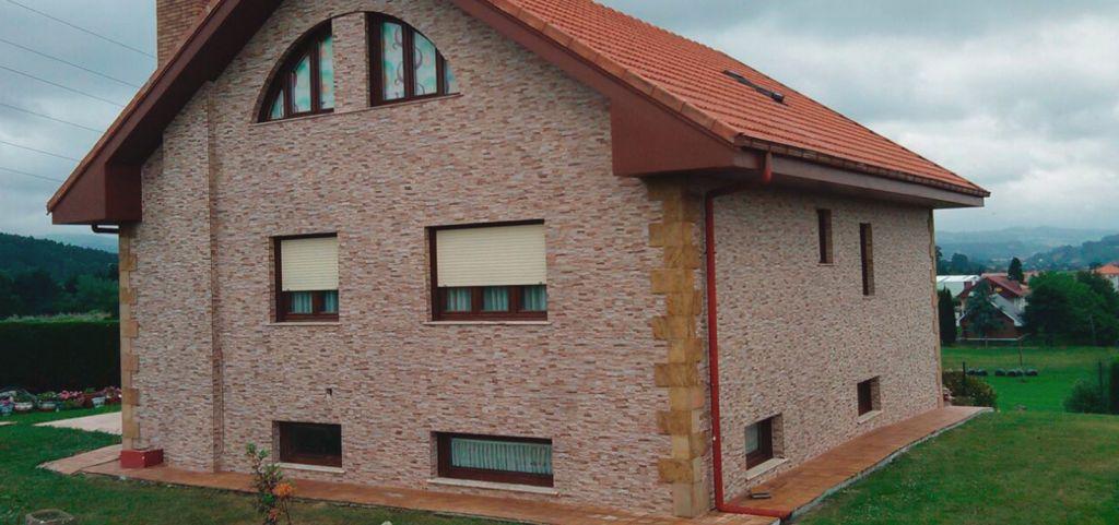 Piedra rustica para fachadas fabulous fachada recubierta - Casas de piedra natural ...